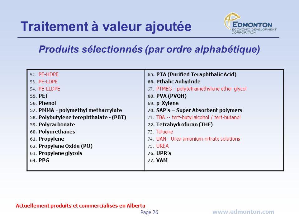 www.edmonton.com Page 26 52. PE-HDPE 53. PE-LDPE 54. PE-LLDPE 55. PET 56. Phenol 57. PMMA - polymethyl methacrylate 58. Polybutylene terephthalate - (