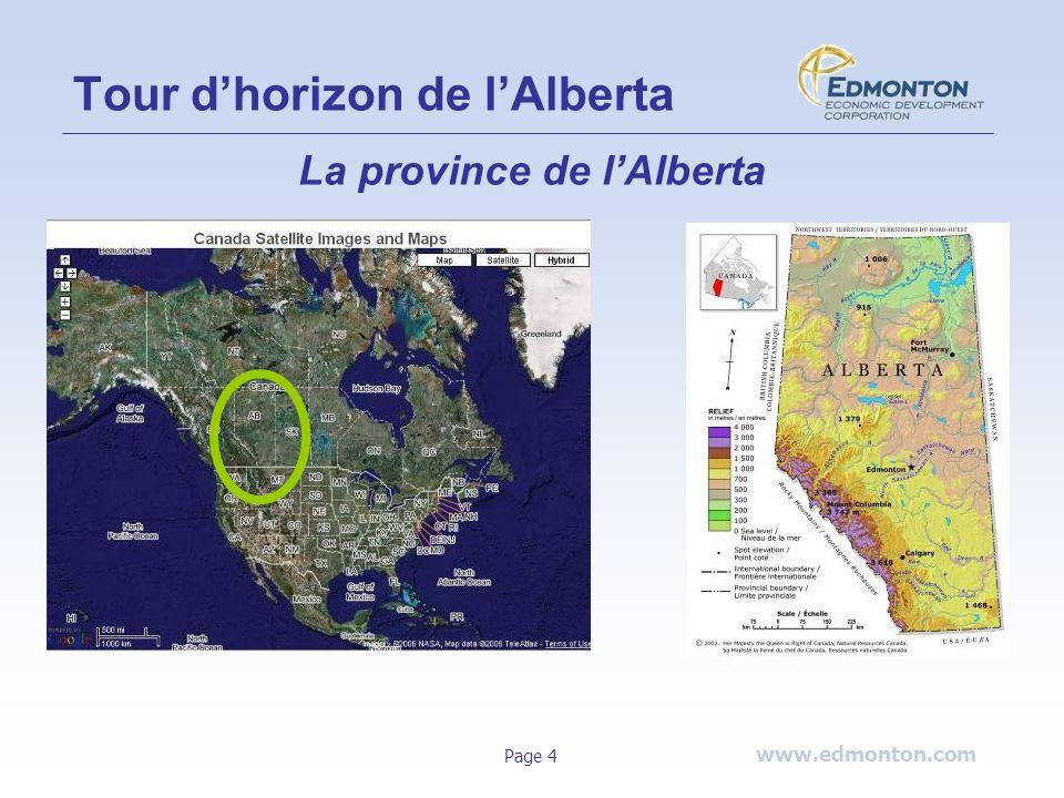www.edmonton.com Page 4 Tour dhorizon de lAlberta La province de lAlberta