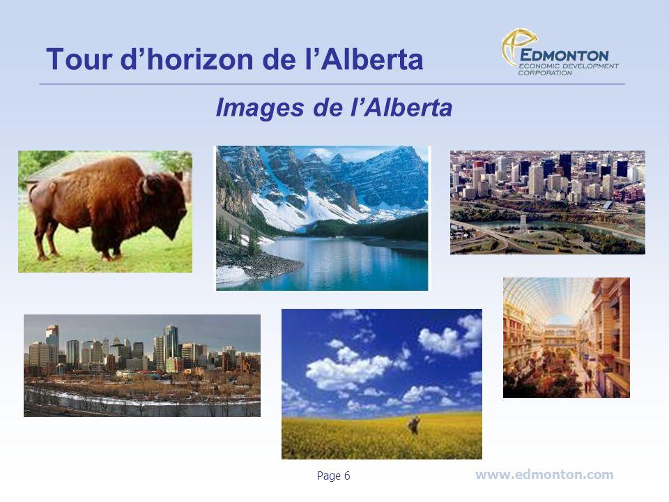 www.edmonton.com Page 6 Images de lAlberta Tour dhorizon de lAlberta