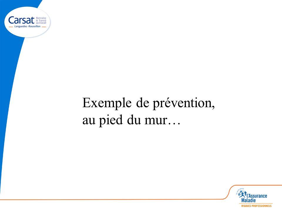 Exemple de prévention, au pied du mur…