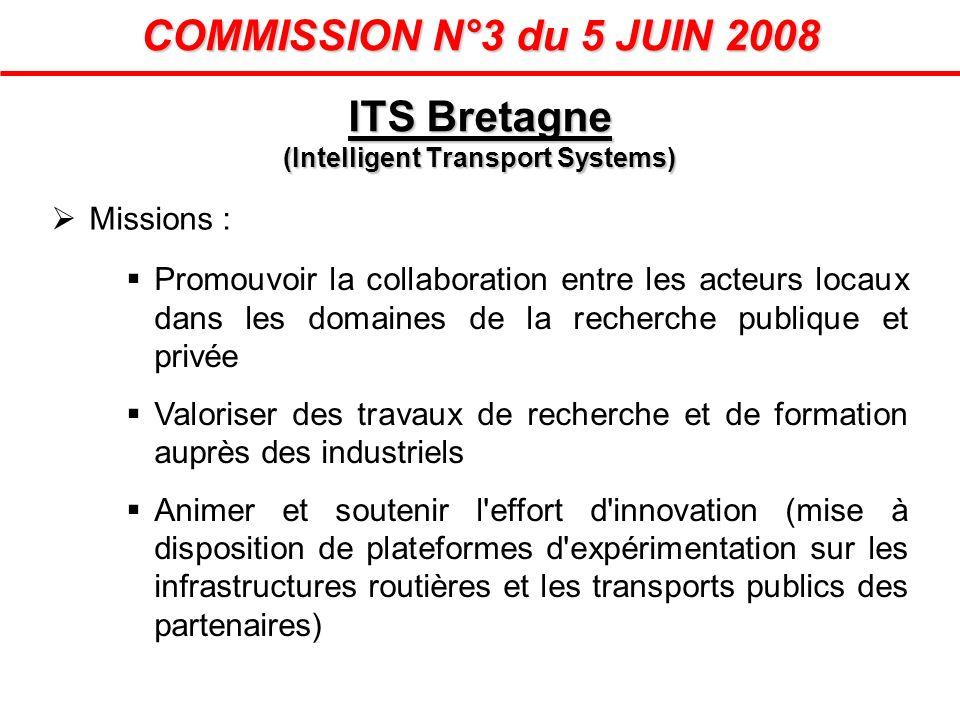 COMMISSION N°3 du 5 JUIN 2008 Missions : Promouvoir la collaboration entre les acteurs locaux dans les domaines de la recherche publique et privée Val