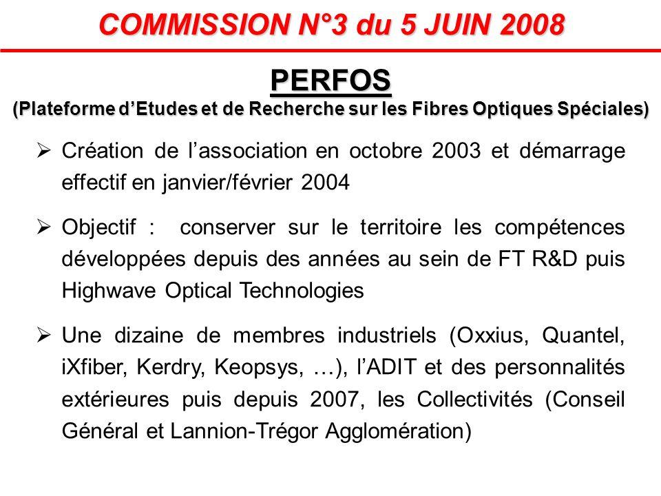 COMMISSION N°3 du 5 JUIN 2008 Création de lassociation en octobre 2003 et démarrage effectif en janvier/février 2004 Objectif : conserver sur le terri