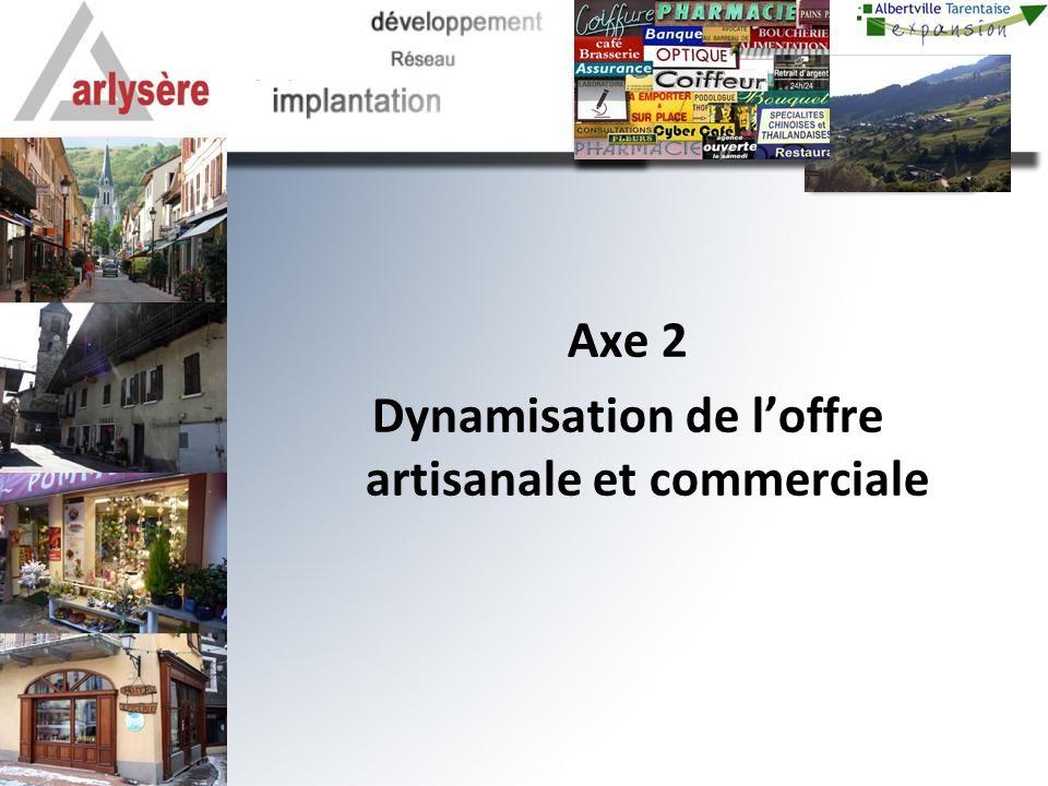 Axe 2 Dynamisation de loffre artisanale et commerciale