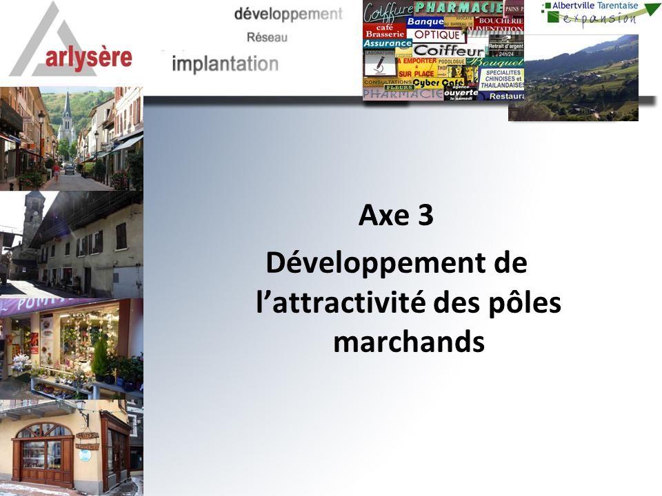 Axe 3 Développement de lattractivité des pôles marchands