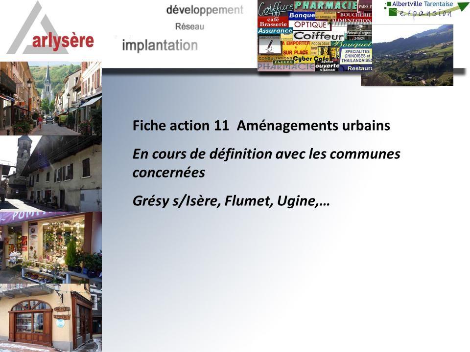 Fiche action 11 Aménagements urbains En cours de définition avec les communes concernées Grésy s/Isère, Flumet, Ugine,…