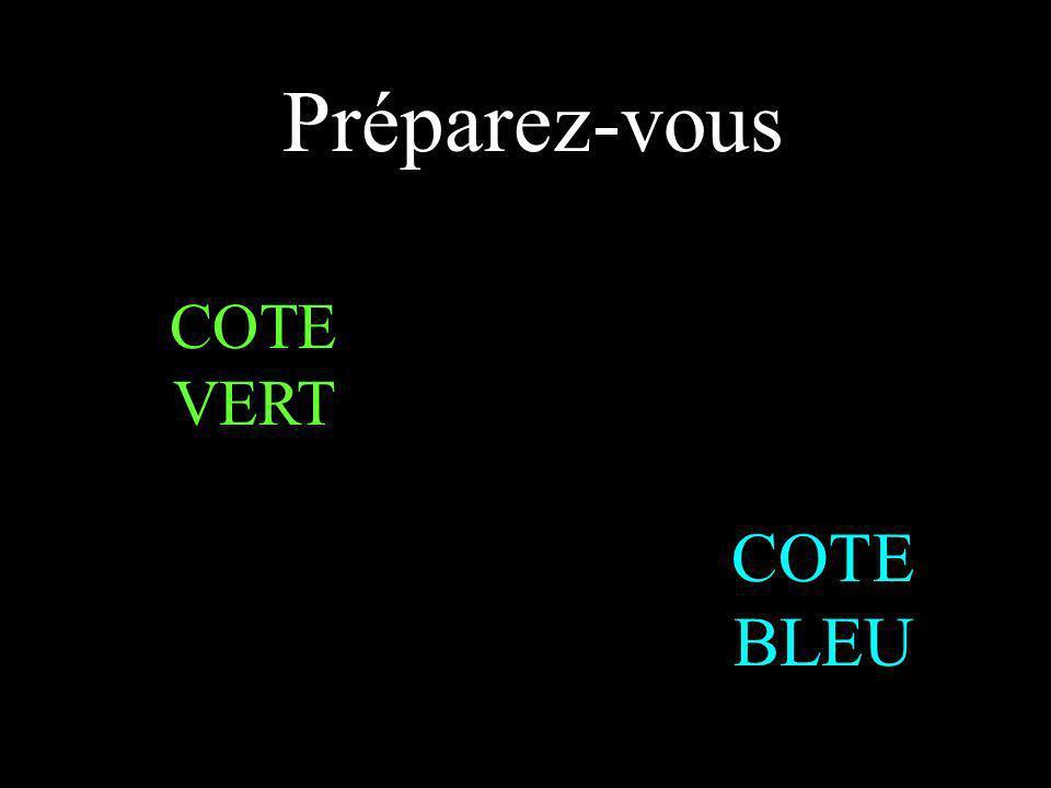 Préparez-vous COTE BLEU COTE VERT