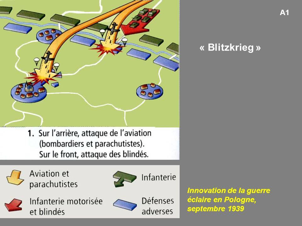A1 Innovation de la guerre éclaire en Pologne, septembre 1939 « Blitzkrieg »