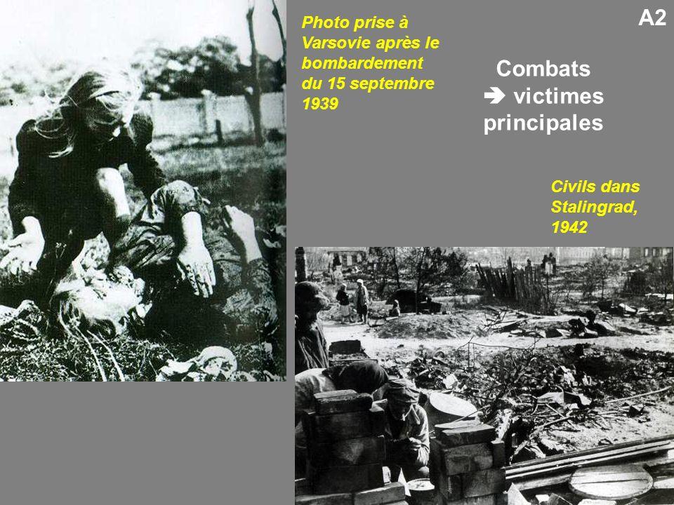 A2 Civils dans Stalingrad, 1942 Photo prise à Varsovie après le bombardement du 15 septembre 1939 Combats victimes principales