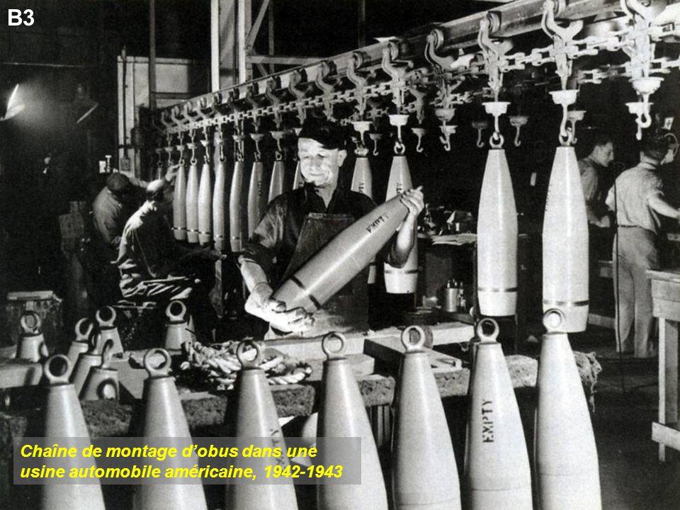 Chaîne de montage dobus dans une usine automobile américaine, 1942-1943 B3