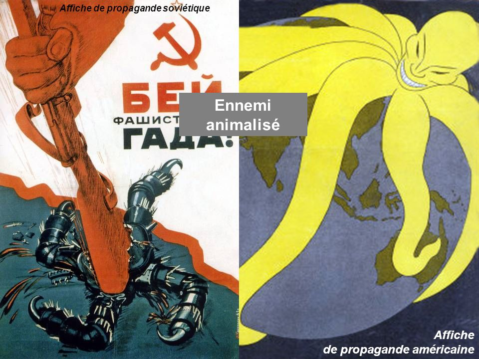 Ennemi animalisé Affiche de propagande soviétique Affiche de propagande américaine