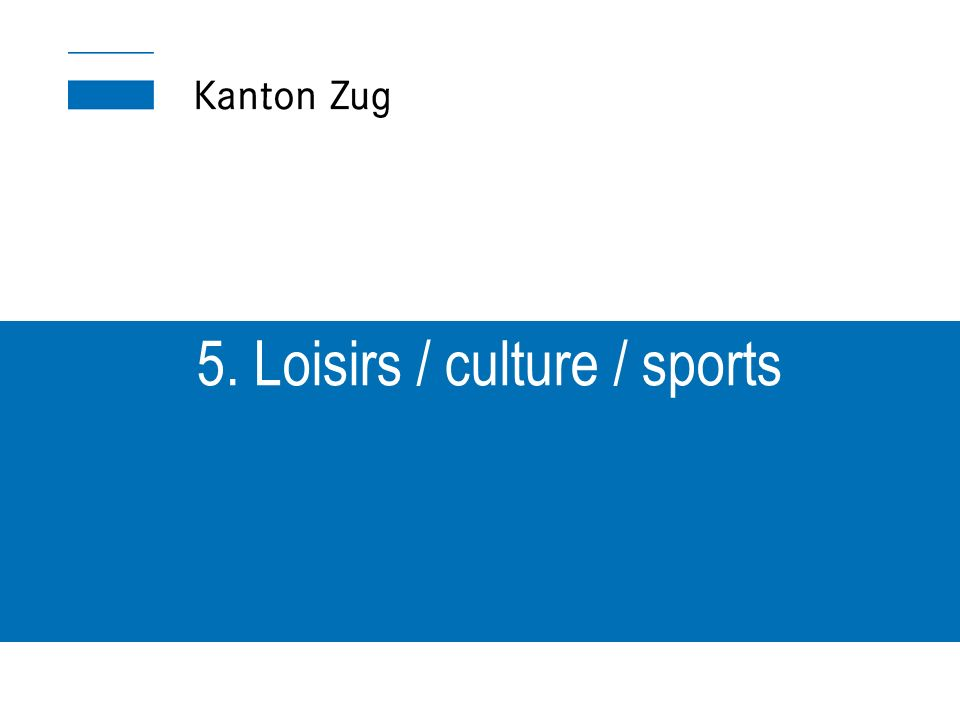 5. Loisirs / culture / sports