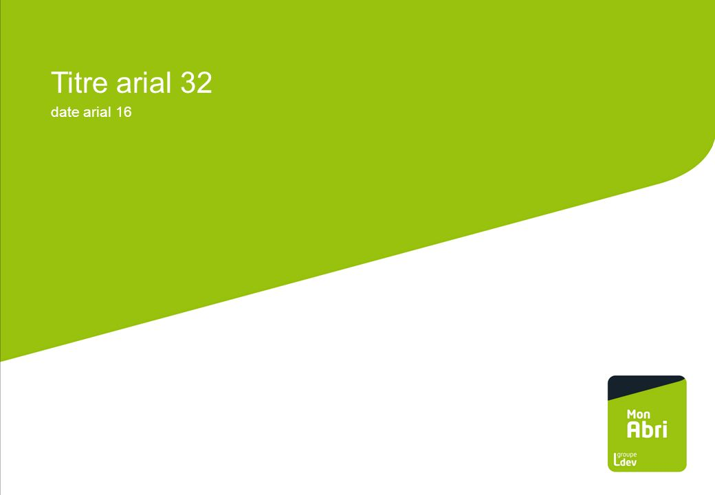 Titre arial 32 date arial 16