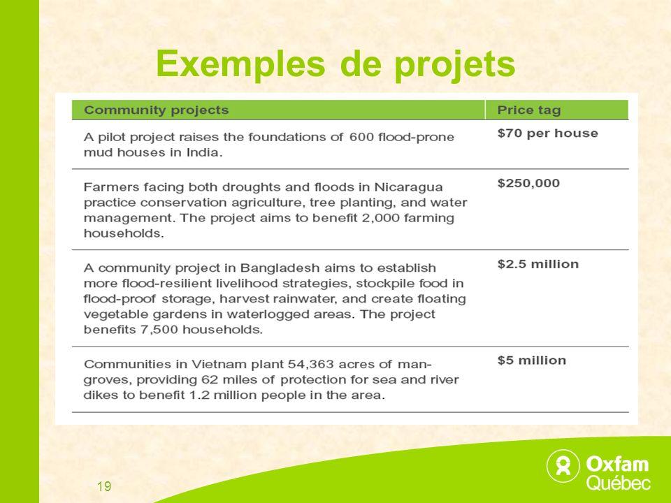 19 Exemples de projets