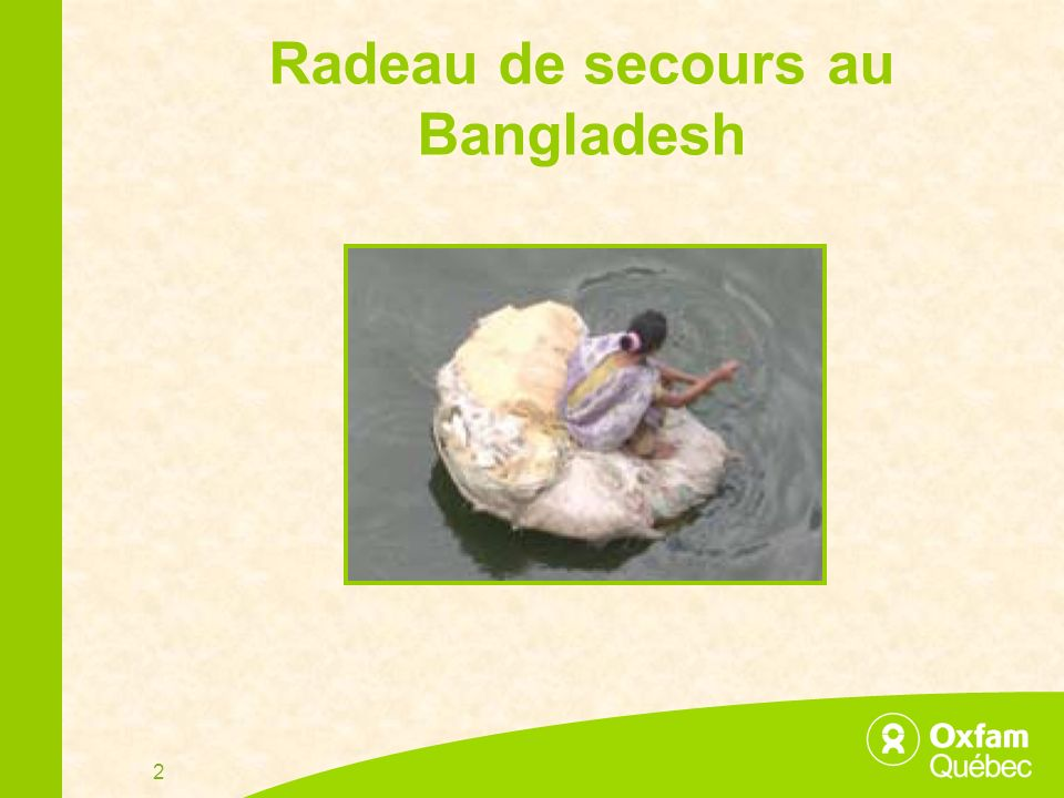 2 Radeau de secours au Bangladesh