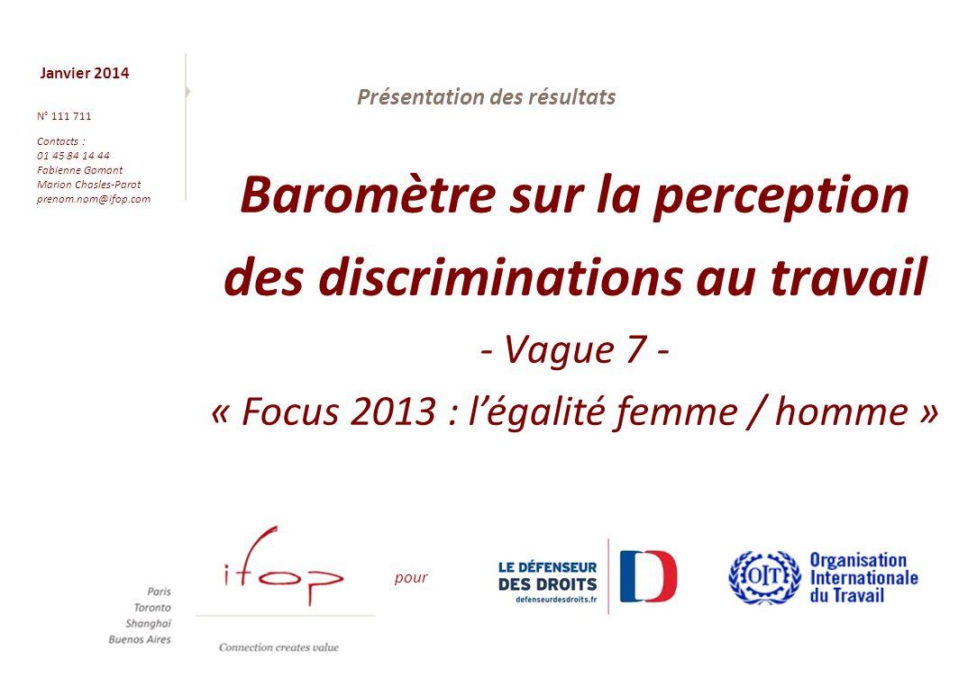 12 Résultats du focus « Egalité femme / homme » B