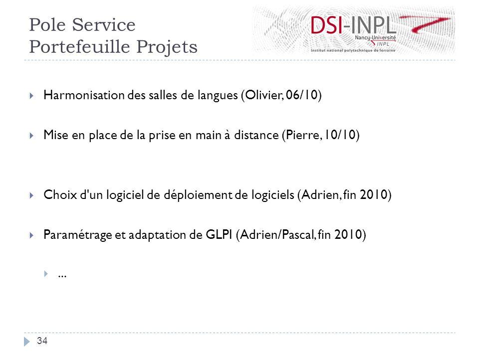 Harmonisation des salles de langues (Olivier, 06/10) Mise en place de la prise en main à distance (Pierre, 10/10) Choix d'un logiciel de déploiement d