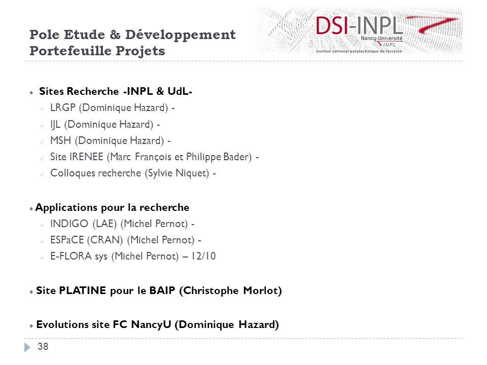 Sites Recherche -INPL & UdL- LRGP (Dominique Hazard) - IJL (Dominique Hazard) - MSH (Dominique Hazard) - Site IRENEE (Marc François et Philippe Bader)