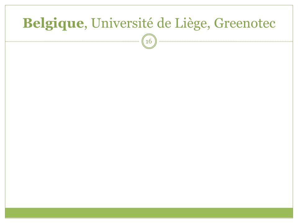 Belgique, Université de Liège, Greenotec 16
