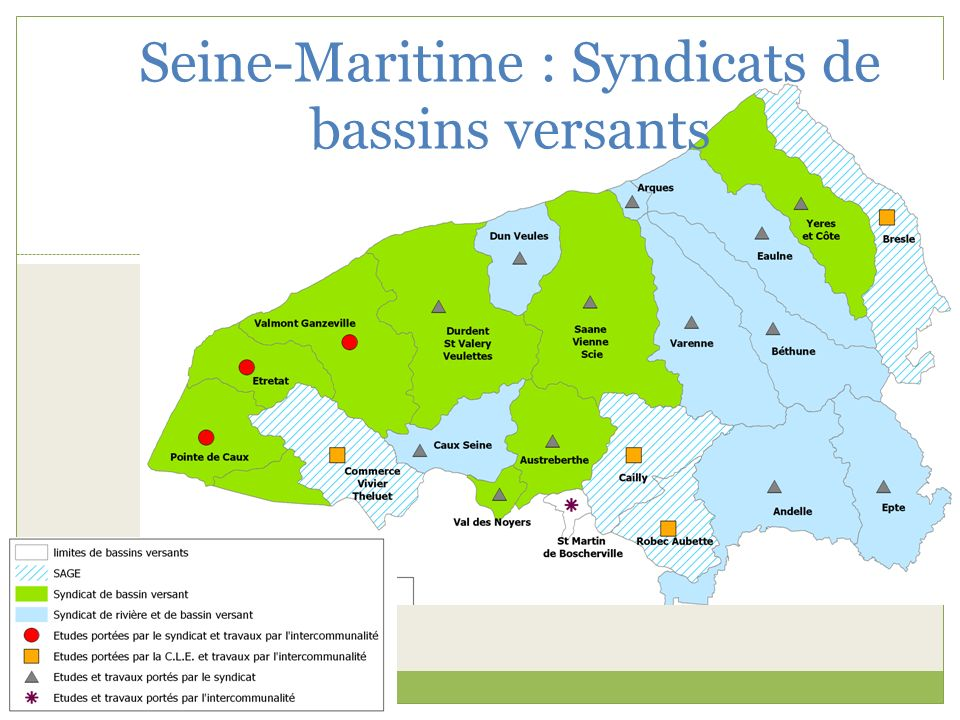 Seine-Maritime : Syndicats de bassins versants