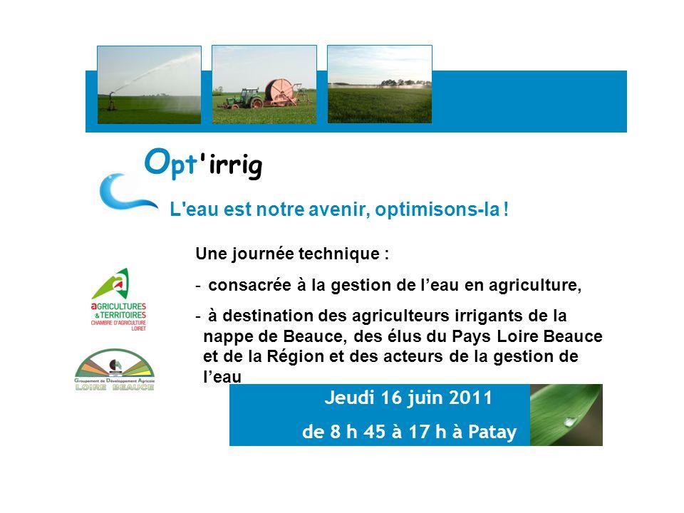 Dans le contexte climatique actuel et sur un territoire essentiellement rural, les agriculteurs du Pays Loire Beauce ont souhaité communiquer sur la problématique de la gestion de leau.