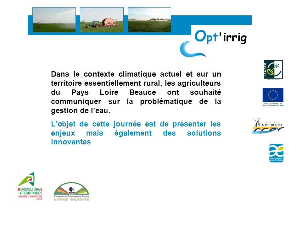 Dans le contexte climatique actuel et sur un territoire essentiellement rural, les agriculteurs du Pays Loire Beauce ont souhaité communiquer sur la p