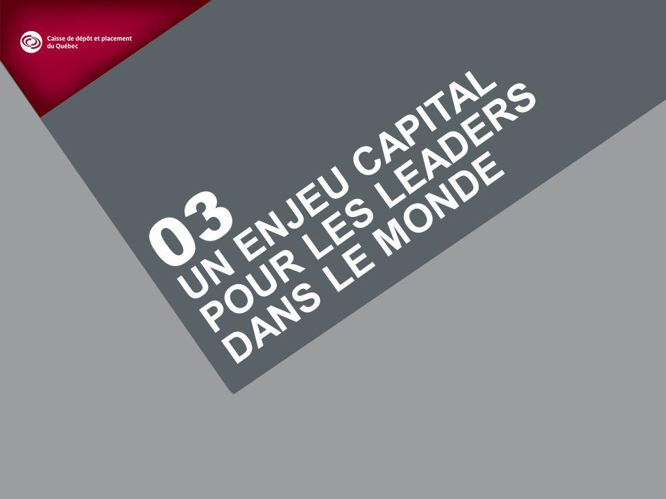 11 UN ENJEU CAPITAL POUR LES LEADERS DANS LE MONDE 03