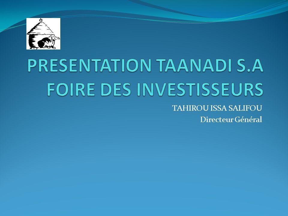 TAHIROU ISSA SALIFOU Directeur Général