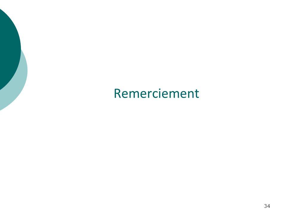 34 Remerciement