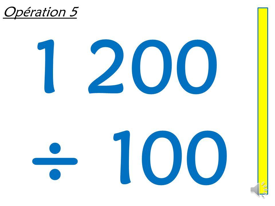 Opération 4 640 ÷ 10