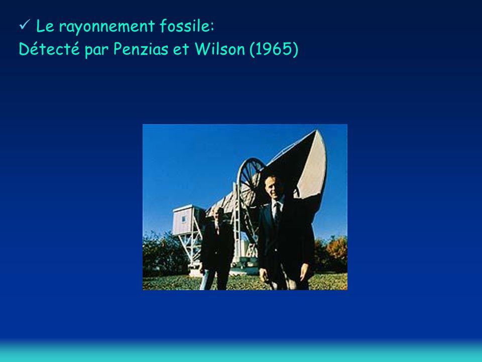 Détecté par Penzias et Wilson (1965)