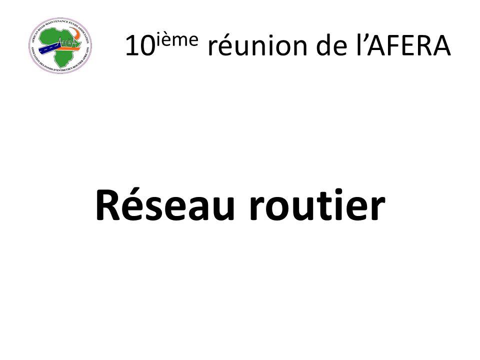 10 ième réunion de lAFERA Réseau routier