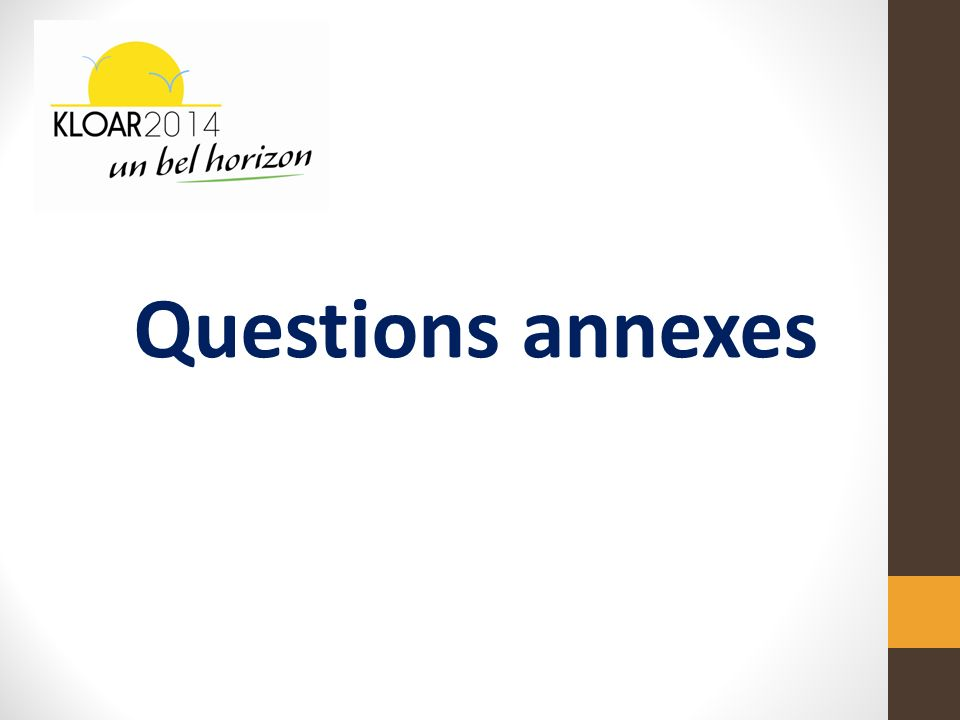 Questions annexes