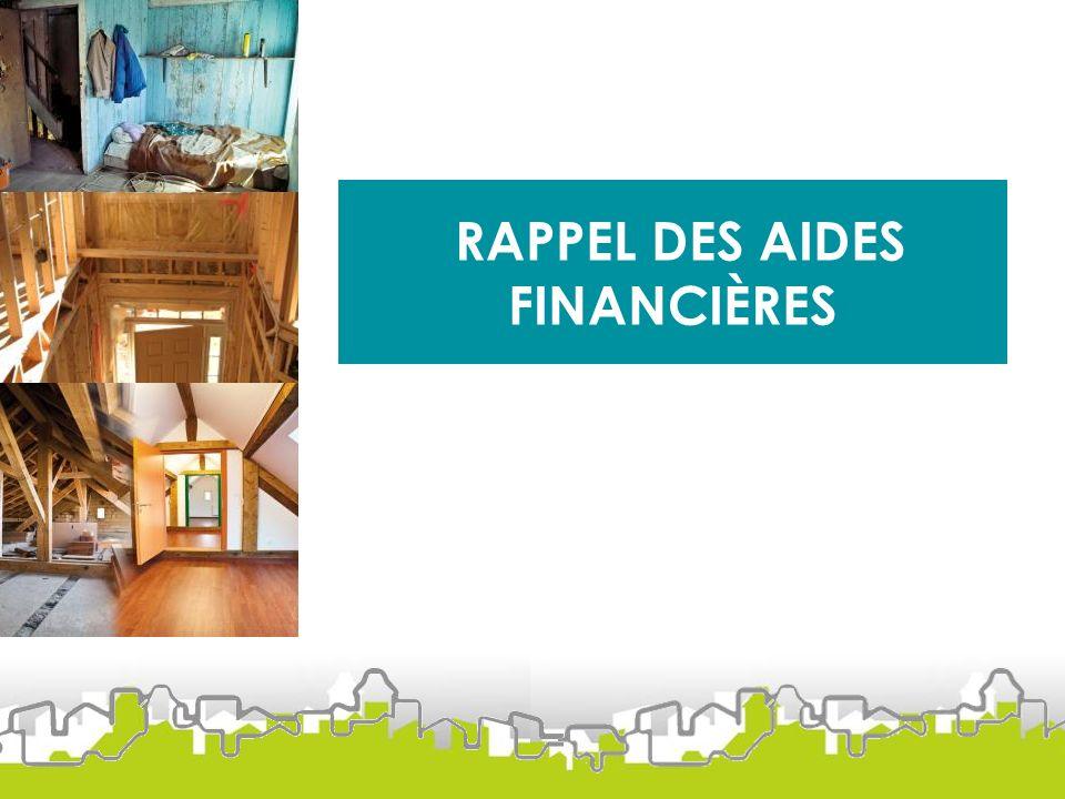 RAPPEL DES AIDES FINANCIÈRES