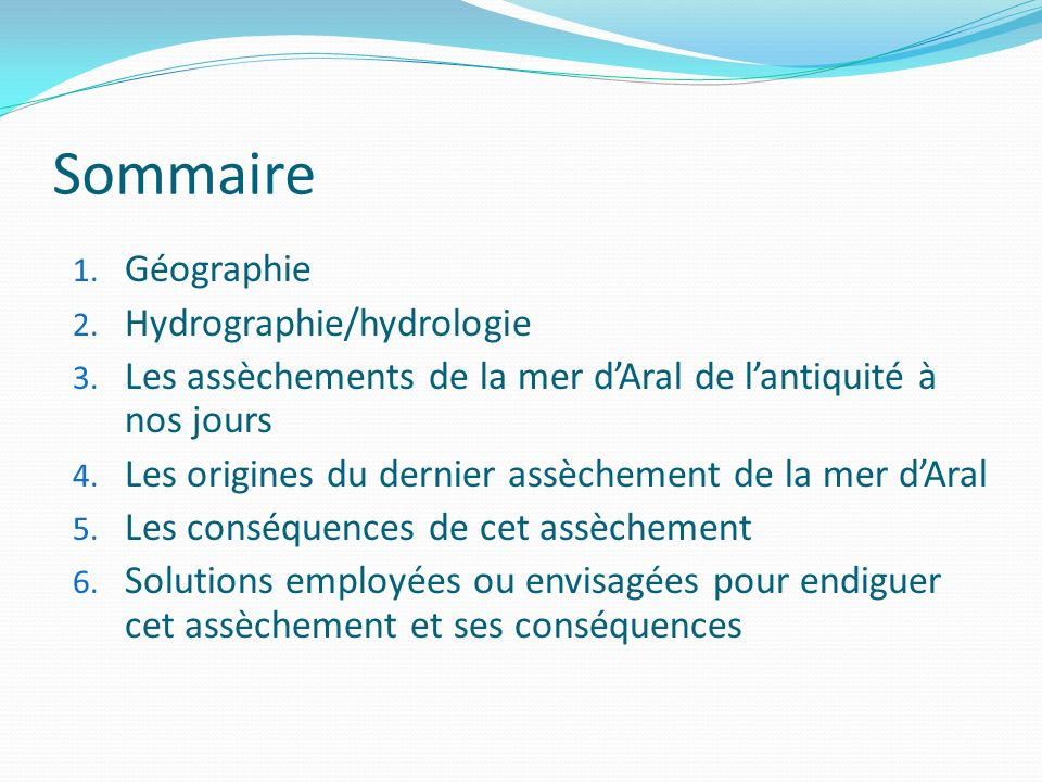 Sommaire 1.Géographie 2. Hydrographie/hydrologie 3.