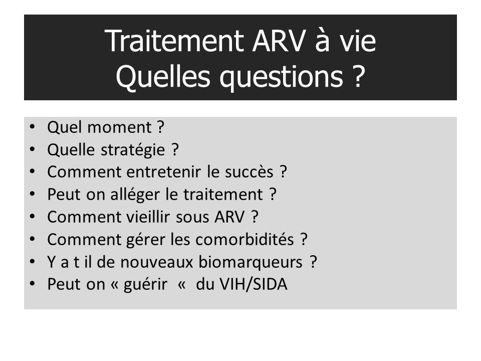 Traitement ARV à vie Quelles questions .Quel moment .