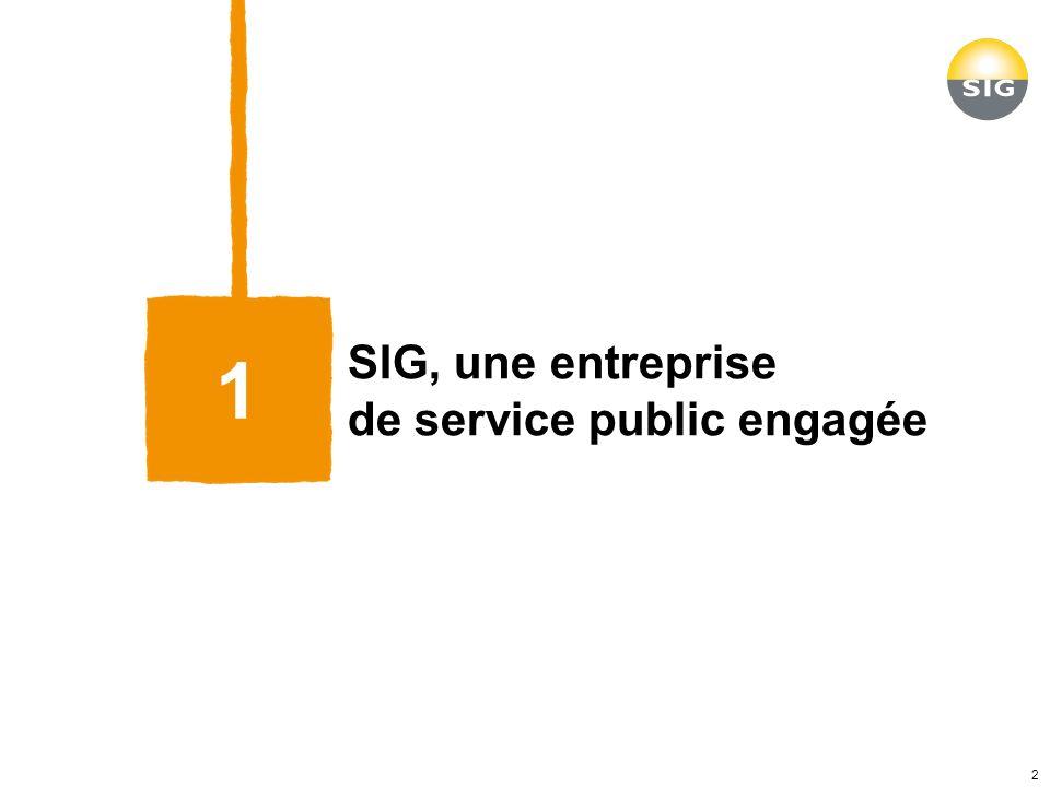 SIG, une entreprise de service public engagée 1 2