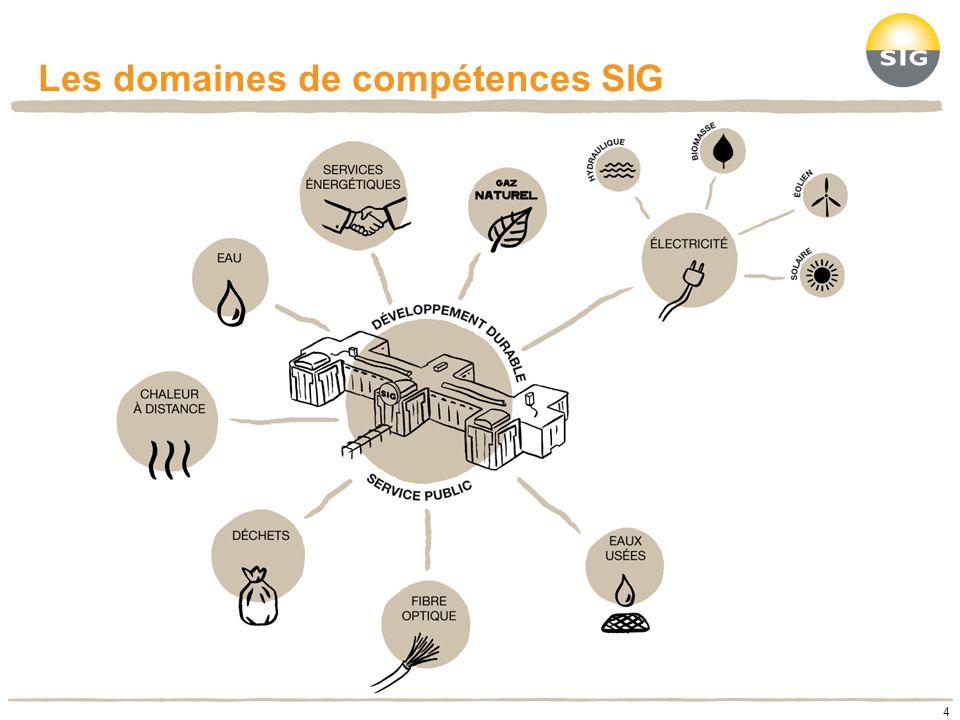 Les domaines de compétences SIG 4