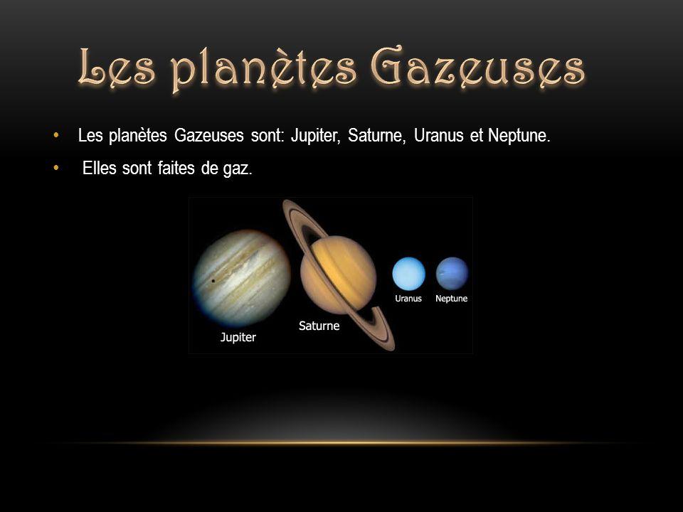 Distance par rapport au soleil : 778 412 000 km Température : -235 degrés F ( - 148 degrés C ) Durée de révolution : 4 335 jours Période de rotation : 9,83 h Dimension : 143 000 km Composition: 90 % hydrogène 10 % hélium