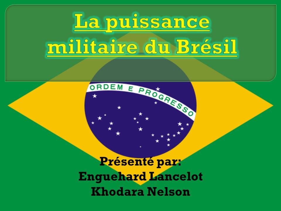 Brésil: Surface: 8 511 965 km² Population: 180 000 000 habitants Après gouvernement militaire, budget militaire nétait plus une priorité.