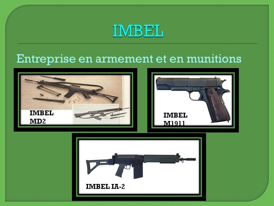 Entreprise en armement et en munitions IMBEL M1911 IMBEL IA-2 IMBEL MD2