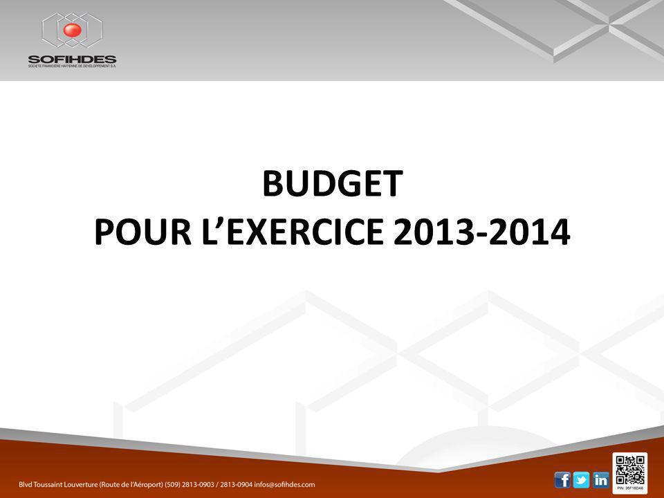 2 BUDGET POUR LEXERCICE 2013-2014