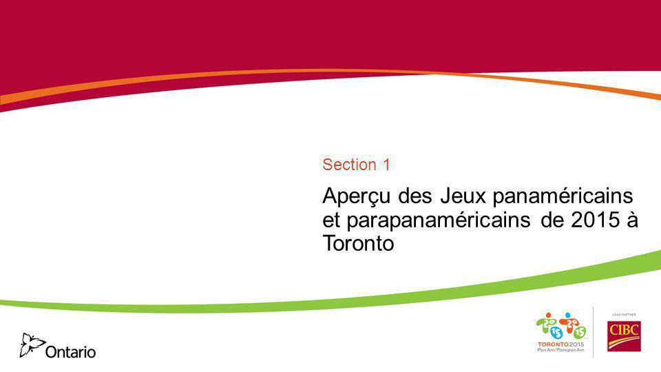 Aperçu des Jeux panaméricains et parapanaméricains de 2015 à Toronto Section 1