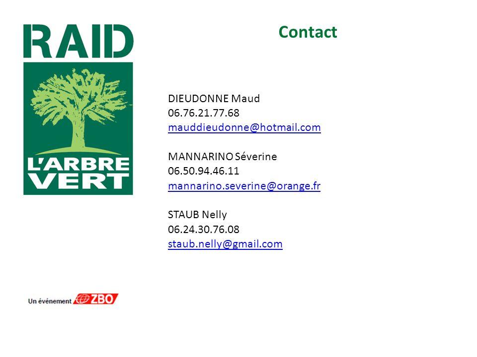 Contact DIEUDONNE Maud 06.76.21.77.68 mauddieudonne@hotmail.com MANNARINO Séverine 06.50.94.46.11 mannarino.severine@orange.fr STAUB Nelly 06.24.30.76.08 staub.nelly@gmail.com