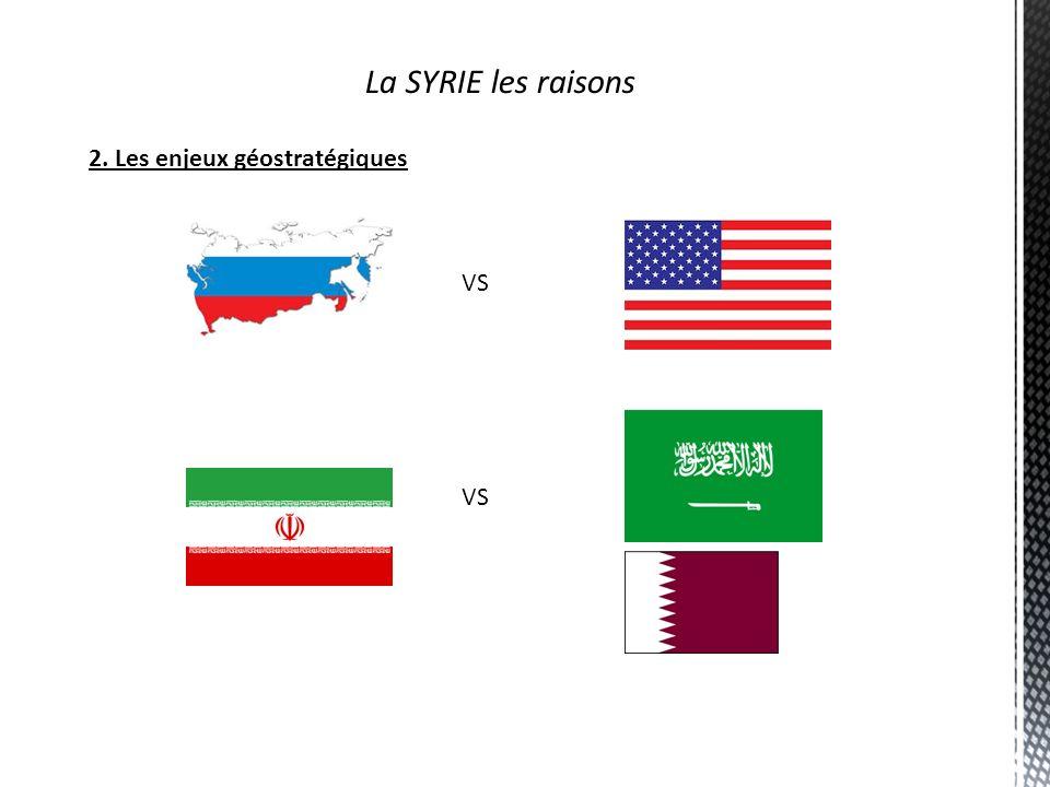 La SYRIE les raisons 2. Les enjeux géostratégiques VS