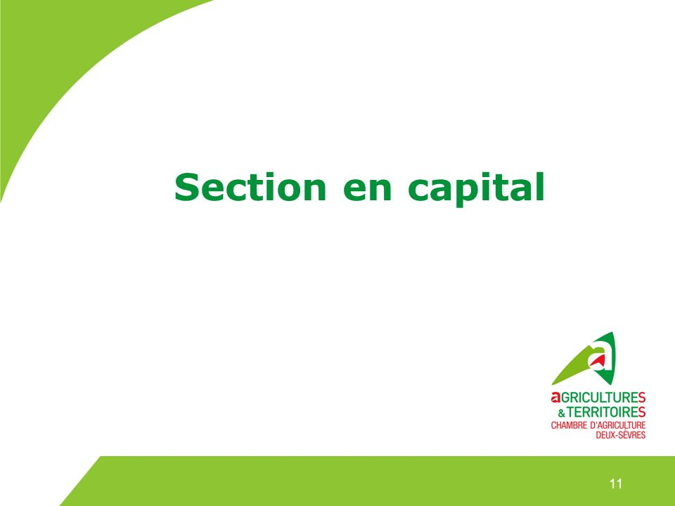 Section en capital 11