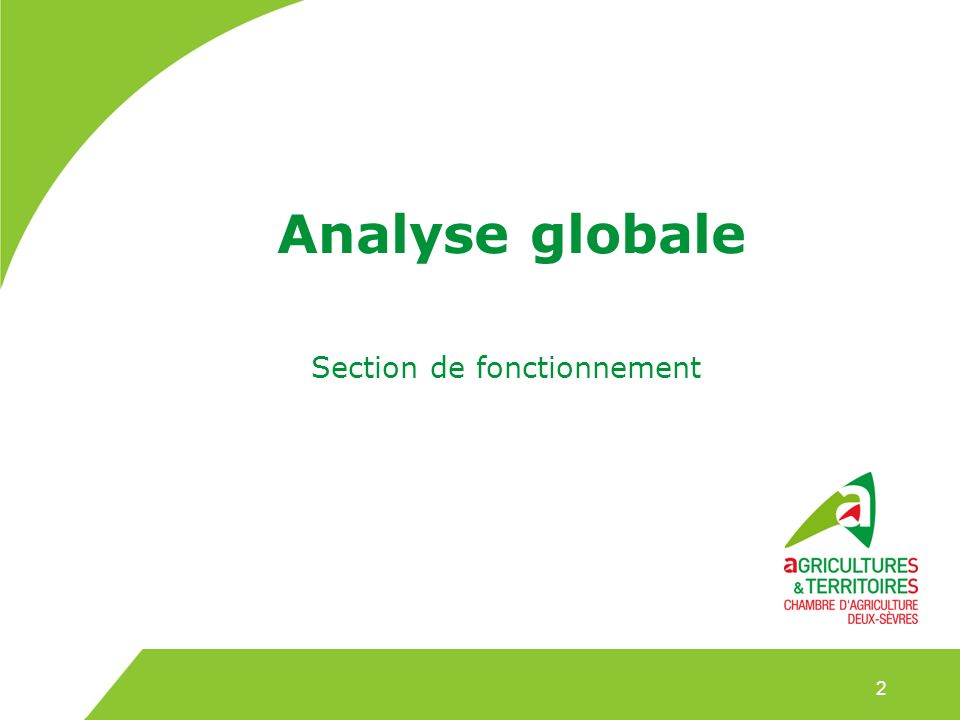 Analyse globale Section de fonctionnement 2