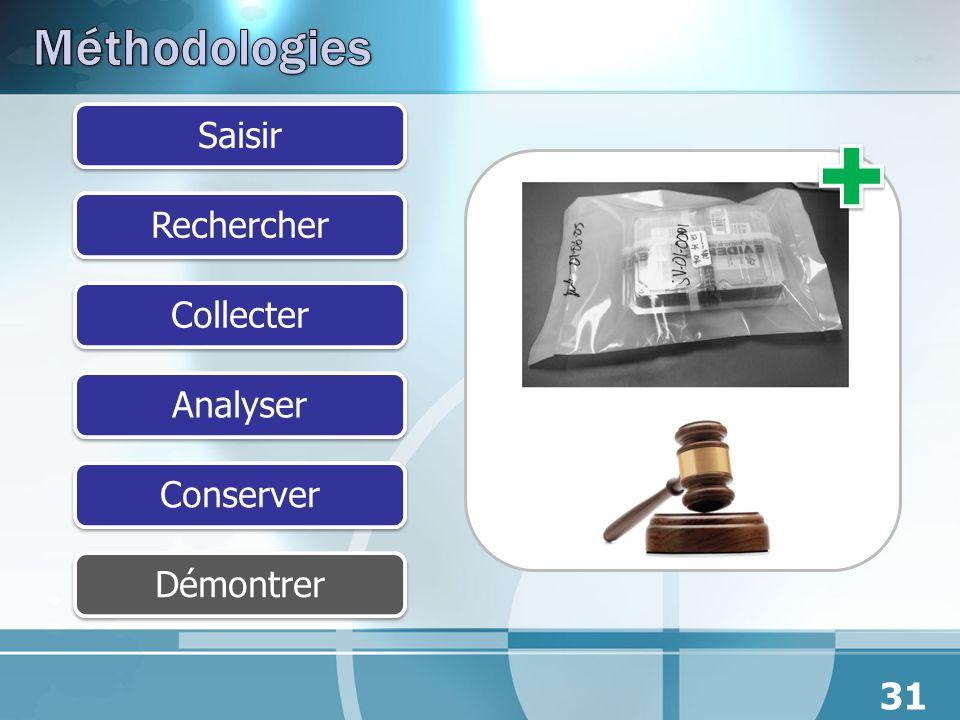 SaisirRechercherCollecterAnalyserConserverDémontrer 31