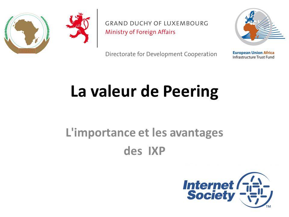 La valeur de Peering L'importance et les avantages des IXP 1