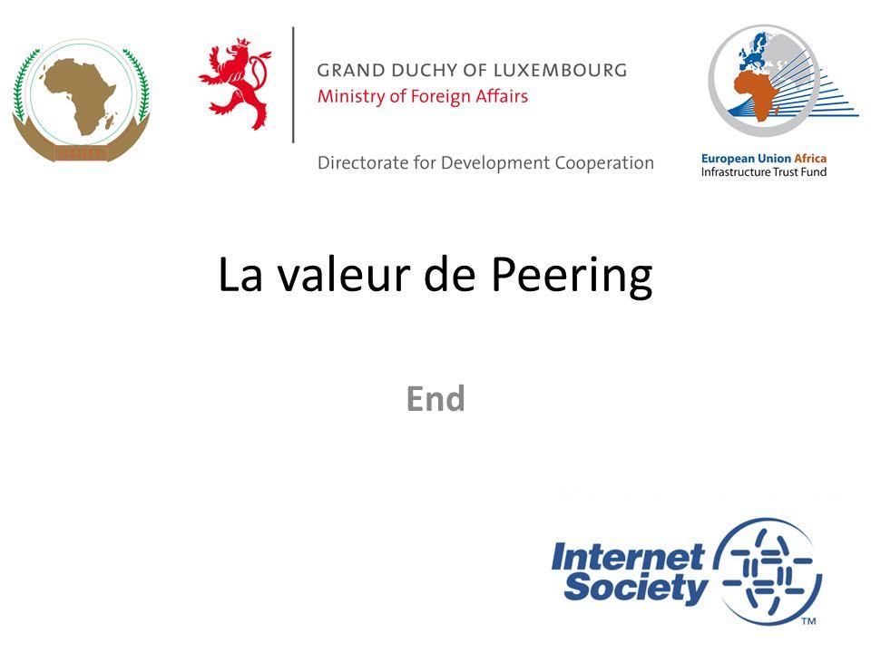 La valeur de Peering End 37
