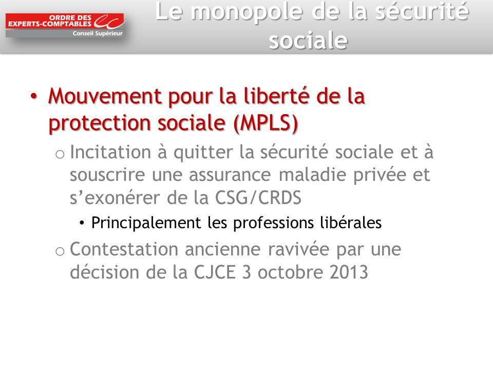 Le monopole de la sécurité sociale Le monopole de la sécurité sociale Mouvement pour la liberté de la protection sociale (MPLS) Mouvement pour la libe